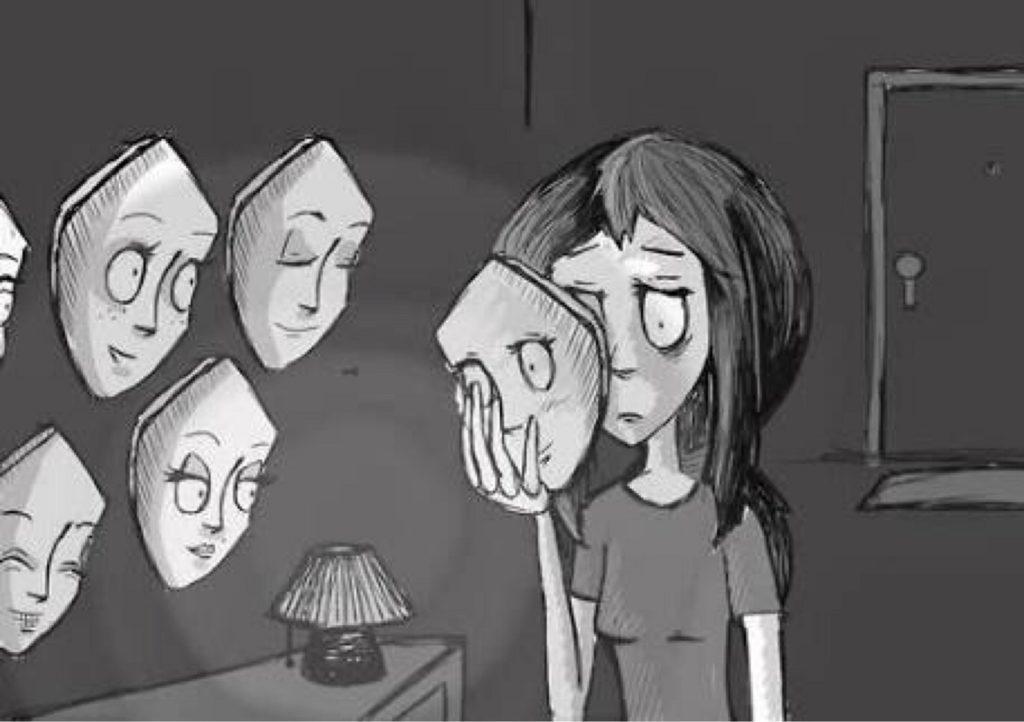 mulher se sentindo vitima