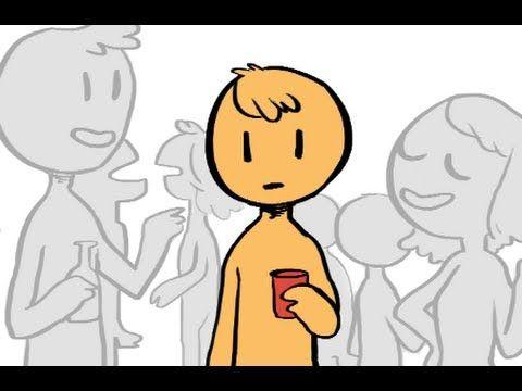desenho de pessoa introvertida