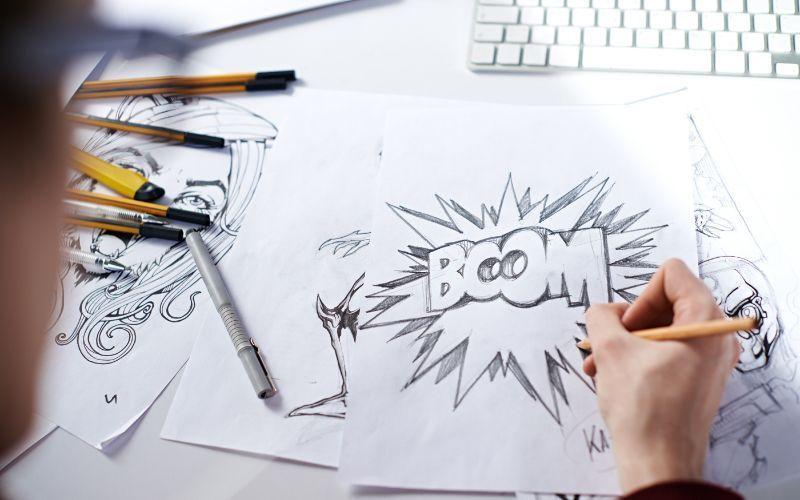 Animador trabalhando