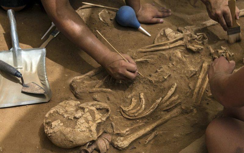Descobrimento de uma ossada