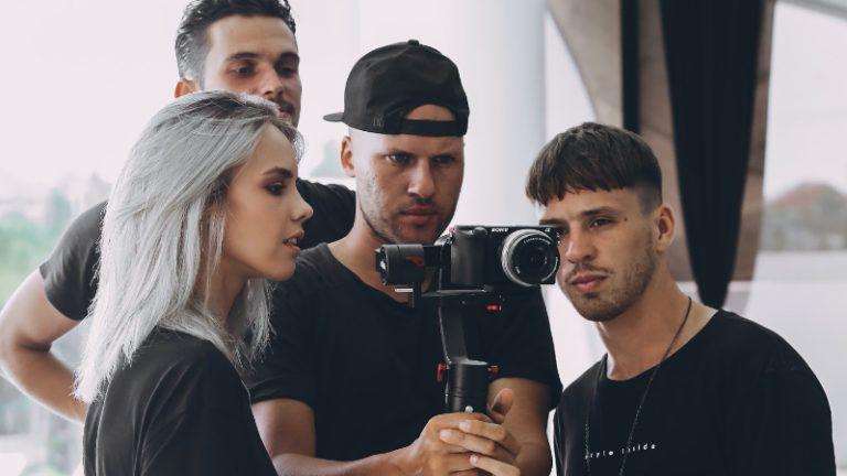 Equipe de produção de vídeos