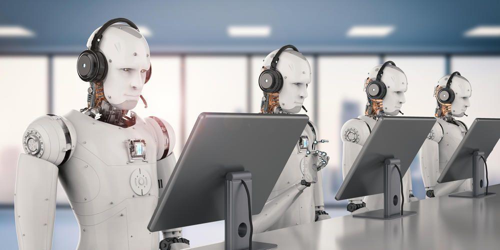 Robos trabalhando